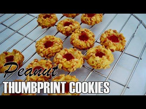 Kukis  Thumbprint Kacang | Renyah Dan Garing