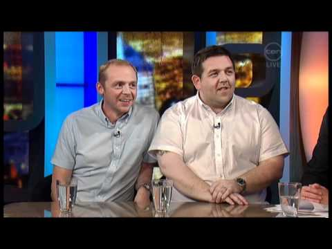 Simon Pegg & Nick Frost on The 7pm Project (Australia) - PAUL