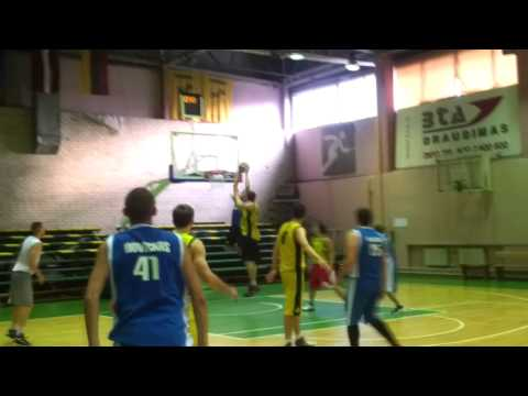 Game | NCAA player Gabas Maldunas make buzzer beater alley oop in friendly game against Vilnius Sakalai | NCAA player Gabas Maldunas make buzzer beater alley oop in friendly game against Vilnius Sakalai