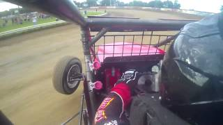 Shane Cockrum Qualifying @ 2014 Indiana Sprint Week Terre Haute USAC Non Wing In car camera