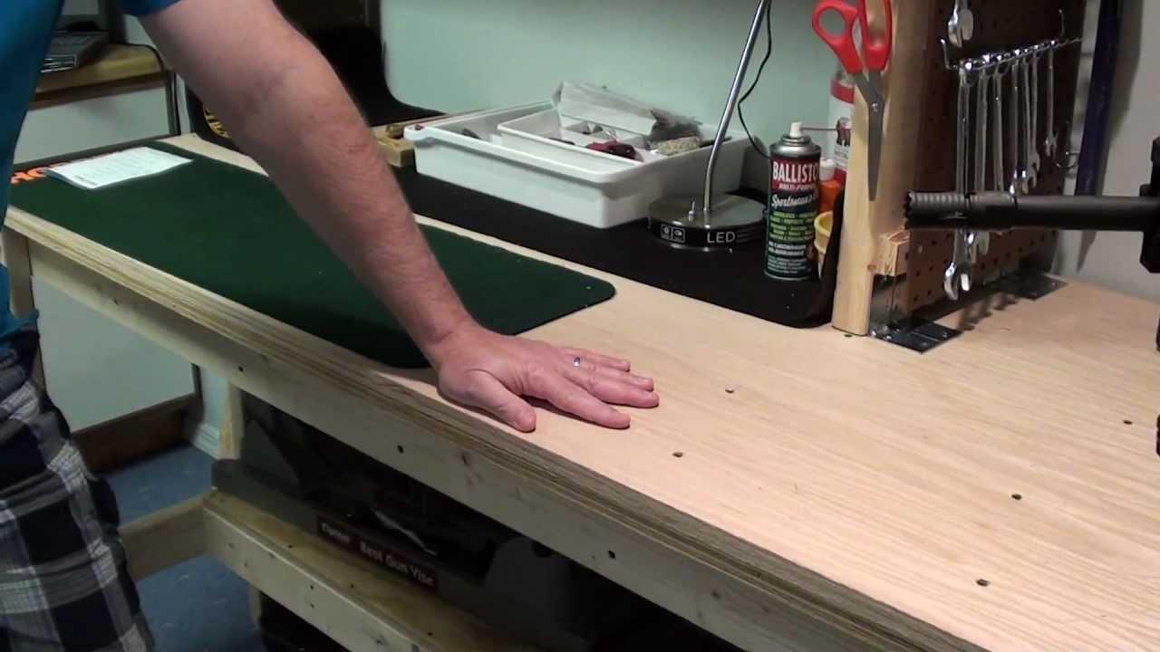New Gun Workbench Done Youtube