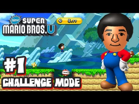 New Super Mario Bros U Wii U - Challenge Mode #1