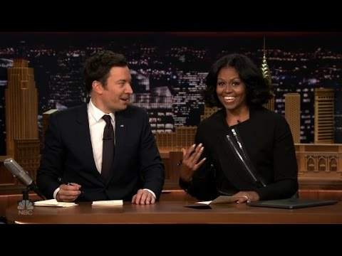 Michelle Obama, Fallon write thank you notes