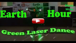 Mystic MIme Dancer  Observes Earth Hour Green Laser Dance in Manila  Philippines