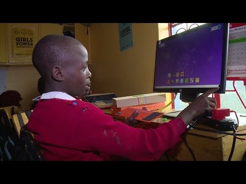 three@five : Young girls from Nairobi slum learn coding