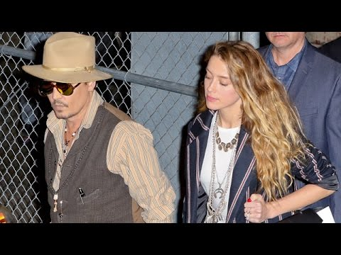 Johnny Depp And Amber Heard Leave Jimmy Kimmel Side-By-Side