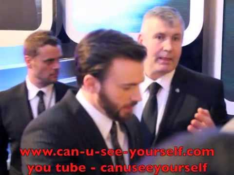Chris Evans Signing Autographs @ Captain America 2:Winter Soldier Film Premiere 2014 London W12