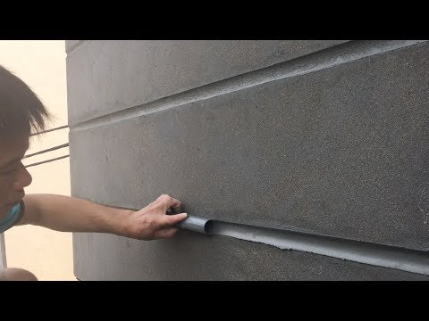 house construction - BEAUTIFUL WALL - sand and cement - how to build, step by step