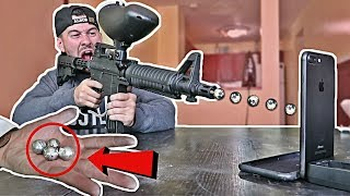 DIY GALLIUM METAL PAINTBALLS VS. iPhone 7 EXPERIMENT!! (1000+ MPH)