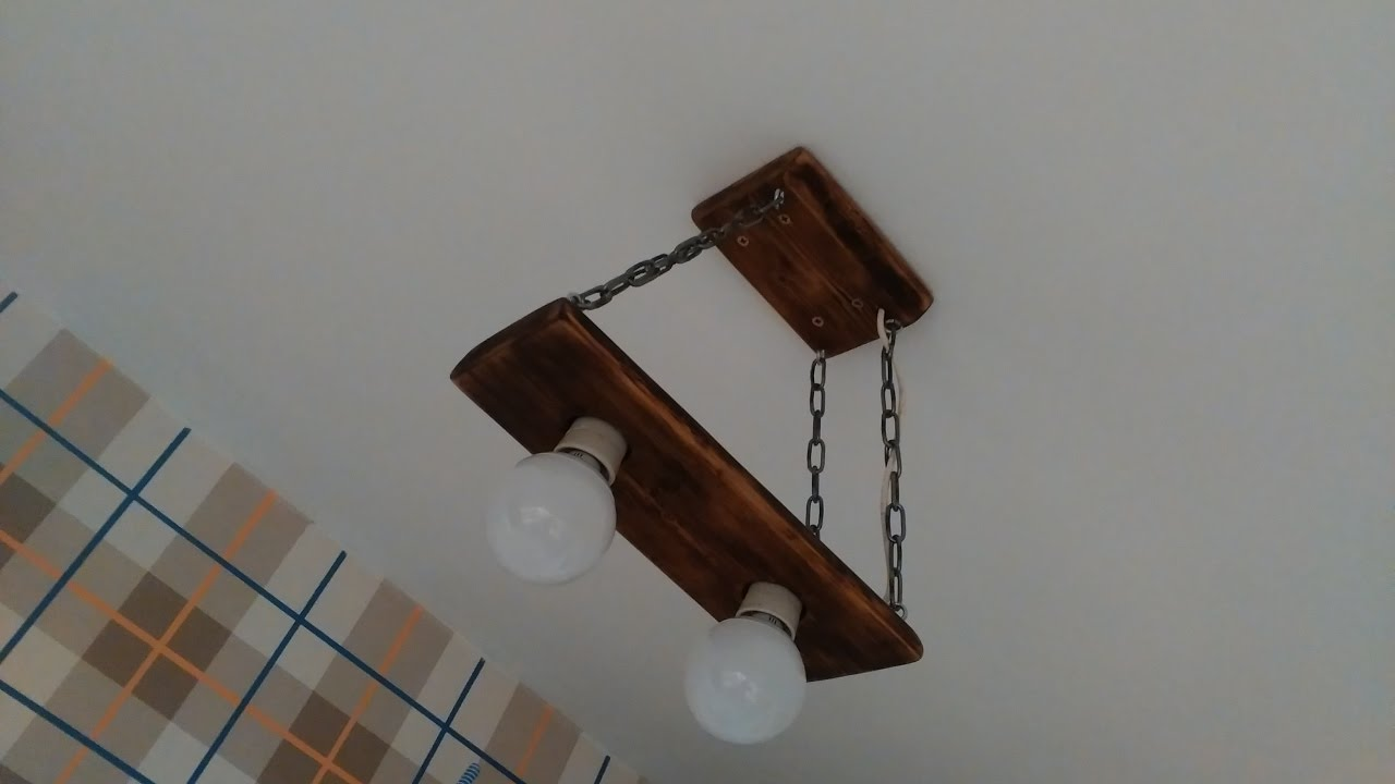 Люстра потолочная из дерева своими руками 91