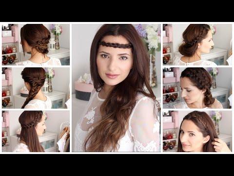 7 Peinados Para cada día     Fáciles y Rápidos   Boho Chic