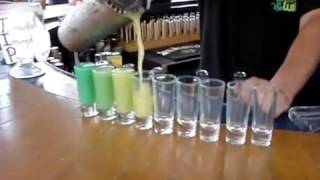 Different Coloured Drinks From Same Bottle -  Magic Barman
