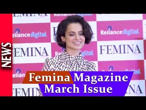 Latest Bollywood News - Kangana Ranaut At Femina Magazine Launch - Bollywood Gossip 2015