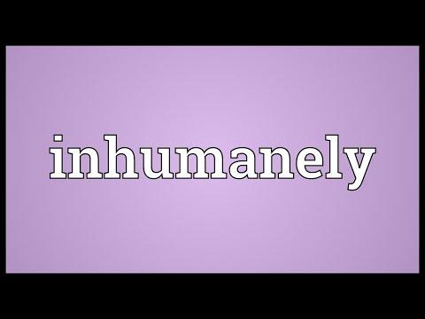 Header of inhumanely