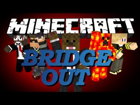 Minecraft Bridge Out Battle (BOB) Minigame w/ SkyDoesMinecraft, TBNRFrags, GoldSolace and Brayden #3