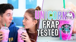 STARBUCKS UNICORN FRAPPUCCINO TASTE TEST & REVIEW!! // Jill Cimorelli
