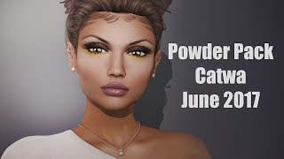 Powder Pack Catwa June 2017 - Unboxing Video - Second Life Subscription Box