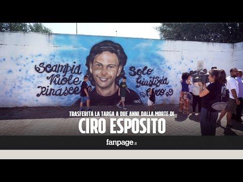 Ciro Esposito, due anni dopo la morte. Targa trasferita da Roma a Scampia