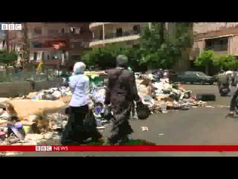 Week of rubbish piles up in sweltering Beirut   BBC News