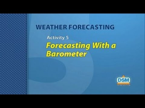 Weather Forecasting - Activity 5: Forecasting with a Barometer