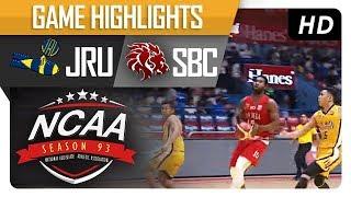 JRU vs. SBC | NCAA 93 | MB Game Highlights | September 22, 2017