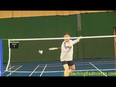 Drop Shots in Badminton Badminton Forehand Net Drop