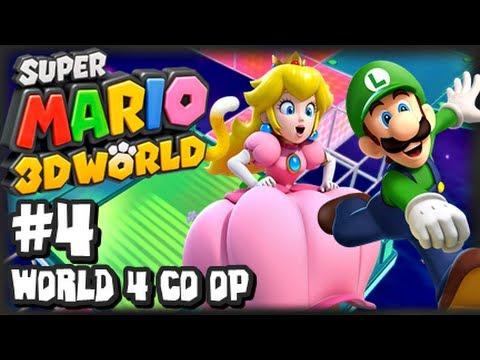 Super Mario 3D World Wii U - (1080p) Co-Op Part 4 - World 4
