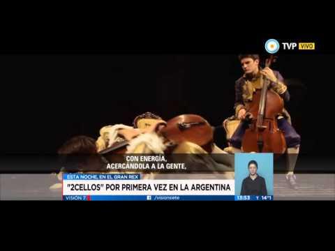 Visión 7  - 2Cellos, por primera vez en la Argentina