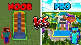 Minecraft NOOB vs. PRO: WATER PARK in Minecraft!