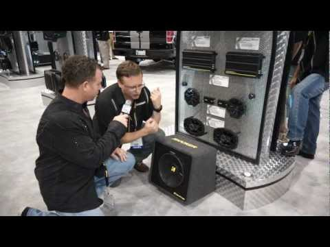 Kicker Comp Loaded Subwoofer Boxes at SEMA - HookedOnTronics.com Product Introduction Part 1/2