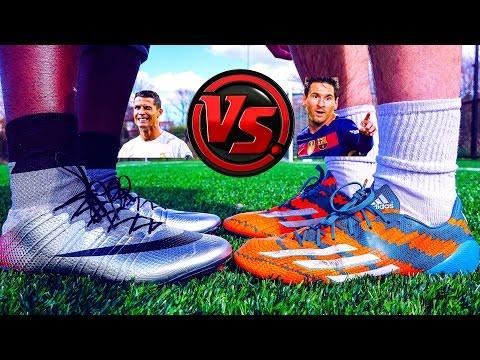 Ronaldo VS Messi - Boot Battle: Nike Superfly CR7 vs adidas Messi15 Test Comparison by iFootballHD