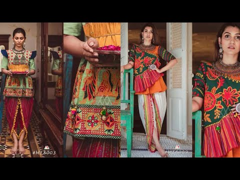 Latest Stylish Embroided Short Frock With Tulip Shalwar For Girls || Trendy Fashion