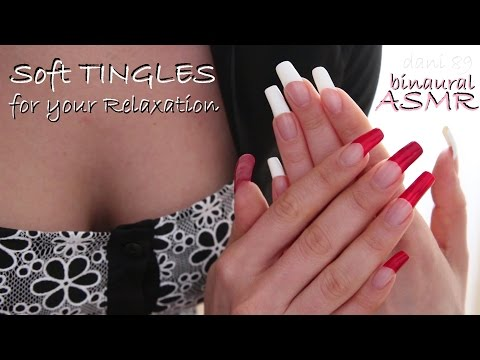 🎧 ASMR: (tapping, scratching, hand movements...) Hands care with bicolor french manicure 💅