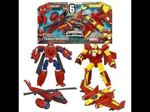 Transformers Marvel Crossovers Spider-Man and Iron Man Combiners