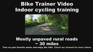 Bike Trainer Video 12 - Indoor Cycling Training ( Unpaved rural roads )