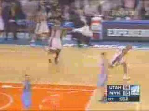 Starbury beats the jazz, Knicks win by 1 on gamewinner.