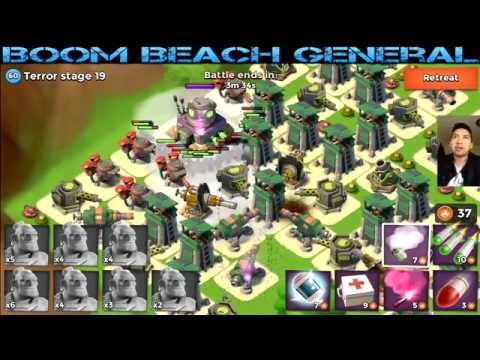 Boom Beach Dr Terror BOSS Stage 11 20 High Gameplay Epic Loot And Crystal