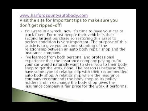 Bel Air Maryland Auto Body Shop- They Work For You, Not The Insurance Company!