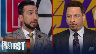 Chris Broussard & Nick agree Clippers aren't better than LeBron, Lakers | NBA | FIRST THINGS FIRST