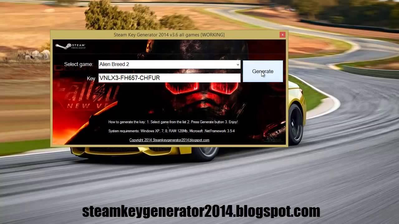 Рабочий генератор ключей для стима. Новинка 2014 Бесплатные игры в Steam В
