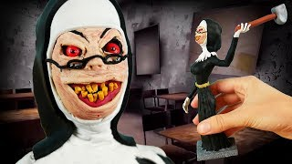Making EVIL NUN in POLYMER CLAY!