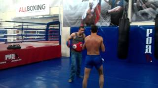 muay thai, K1 работа на лапах seminar with Nikolay Kovalevich...
