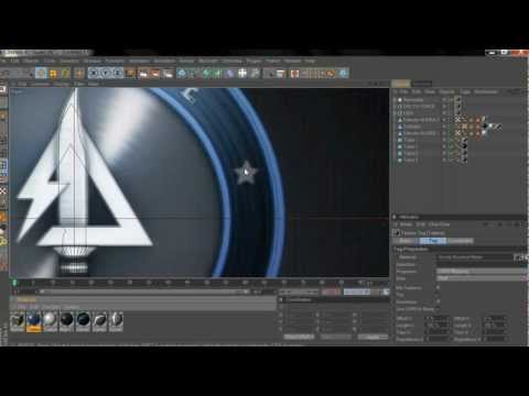 C4D Tutorial Mw3 Spinning logo