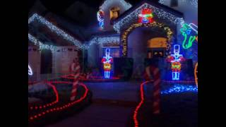Candy Cane Lane Holiday Lights, Clovis CA: #TravelswithCeceliaLynnGreenberg