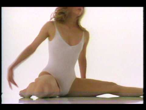 Aerobic Retro 80´ Girl In White Leotard video