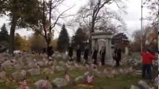 Veterans Day at Forest Lawn in Buffalo