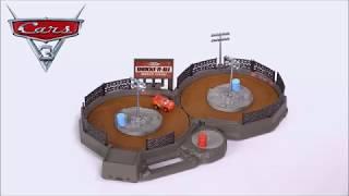 Smyths Toys - Disney Pixar Cars Mini Racers Crank & Crash Derby Playset