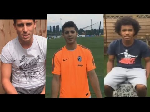 Ice Bucket Challenge Compilation ● FOOTBALL PLAYERS (Hazard, Paulinho, Adebayor, Morata...)