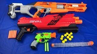 Box of Toys Toy Guns Nerf Blasters Rival Accustrike Zombie