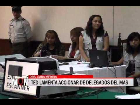 31/03/2015-18:59 TED LAMENTA ACCIONAR DE DELEGADOS DEL MAS
